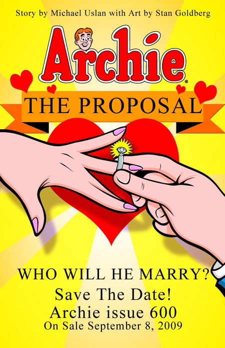 Archie finally pops the question - but who will be the poppee?
