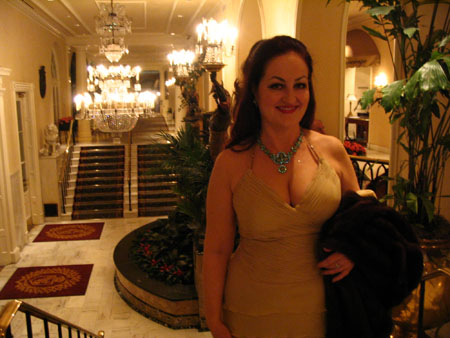 Mardi Gras 2006, on my way the the Hermes Ball; Royal Orleans Hotel lobby