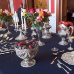 Period silver service as it was in the Mansion's heyday