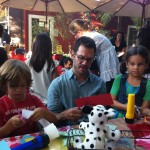 Actor Christopher Gartin and his beautiful kids crafted puppets along with us