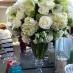 gorgeous white on white florals decorated the new boutique