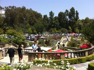 View from the Formal Garden onto the Concours