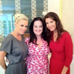 with Jenny McCarthy and Heather Porter at the Body Back tea