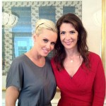 Jenny McCarthy and Heather Porter at the Body Back Tea