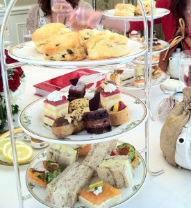 the very English tea service was the perfect complement to Heather Porters very English style