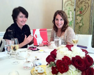 Fellow MomsLA friends Sarah Auerswald and Jeannine Chanin-Penn pore over the newly released Body Back