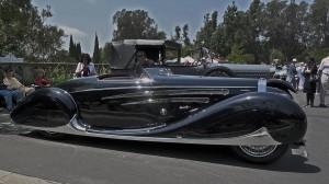 Bugatti 1939 Type 57C Vanvooren in profile