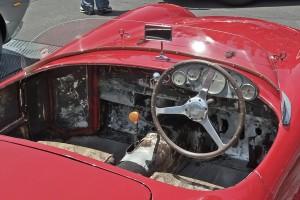 Ferrari 1948 166 Spider Corsa interior and dash