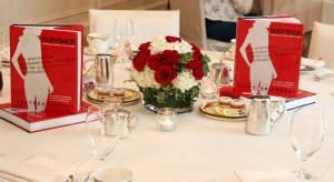gorgeous rose red and white were the theme colors for the gathering