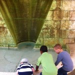 Critter, Samuel and Aram discover where all the water started that flows into the pond at the Getty gardens