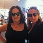 Liz Peterson and I couldn't decide which Leisure Society sunglasses we liked best, there were so many