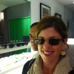 Yvonne Condes finds her frame at Leisure Society Kick Off Summer Style event at Hoff Optometry in Santa Monica