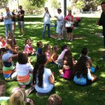 Rapt attention to the magician at Aubrey Anderson Emmons' birthday - best magic guy ever!
