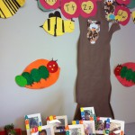 More adorable classroom art at the Critter's preschool graduation