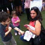 Uber mommyblogger Caryn of RockinMama and her uber cutie kidlets -Havaiana Baby Buggy event at The London West Hollywood