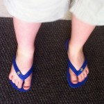 Summer toes in the Havaianas he designed