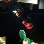 goofing around with the 3-D glasses at our Ice Age 3 screening