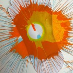 very cool spin art project Critter did at the Havaianas-Baby Buggy event