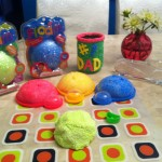 The Critter finally finished his Father's Day gift for BHDad last week - the nice people at Floam sent us all these goodies to play with!