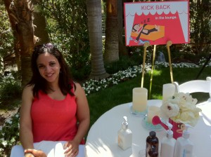Relaxing with Caryn Bailey of RockinMama.net over hand massages