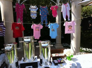 A swag of onesies and pjs deck the tea service
