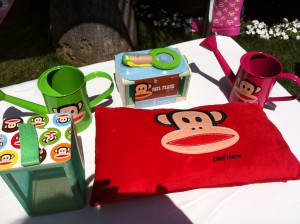 Super cute new items by Paul Frank for BabiesRUs - bug catcher with magnifying glass, felt envelope pillow, and watering cans