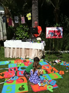 Moms and kids jammed and played to a DJ