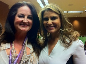 With Angela Santomero, creator of Daniel Tiger's Neighborhood, SuperWhy, and Blue's Clues at the PBS Annual Meeting 2012