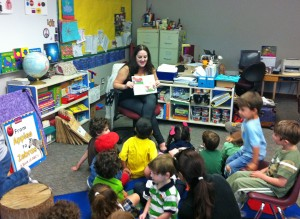 Part of the Summer Reading Party festivities - I read George and the Dragon from the SuperWhy All Aboard Reading series