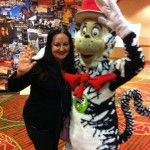 I had a hug from the Cat in the Hat while looking over the history of Independent Lens - PBS Annual Meeting 2012