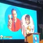 My kids' TV idol Angela Santomero tells the PBS Annual Meeting attendees of her childhood cruch on Mister Rogers and how important it is to her to be part of the Fred Rogers legacy