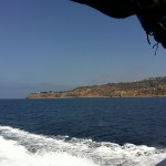 View of the Palos Verdes Peninsula as we headed back from the very satisfactory tour.  2seewhales.com