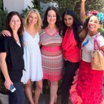 With Laura Gershon of Momangeles, Jamie Lynne Grumet, Ashaa Siewkumar and Birdie of Birdie's Playhouse at Boobiepalooza 2012