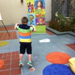 Still stoked after seeing Steve Songs, we have some fun in the courtyard with PBS Kids and PBS SoCal
