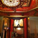 The view of the entry to the iconic Chinese Theater from the west vestibule