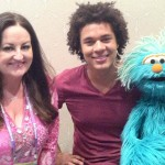 post interview photo with Rosita and Mando, the newest character on Sesame Street for the interview, check out http://www.youtube.com/watch?v=tVH7JqbNzNU&feature=share&list=PLQ0kczozihZriOngeX3N_86glhOawlqOs