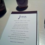 Special menu prepared for the PBS Kids VIPs - our amazing dinner at Juvia really was a sensory experience
