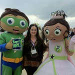 With Super Whyatt and Princess P of SuperWhy! - a fabulous oceanside cocktail reception at Fountainebleu