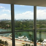 You know that when the view from the elevator lobby looks like this, gorgeousness abounds! at the Fountainebleu Miami Beach