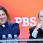 Ray Romano and Bob Newhart enjoying a few belly laughs at PBS Winter Press Tour 2014