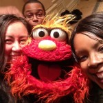 PHOTOBOMB! I love this selfie Tee and Penny of ThatsItMommy.com took of themselves with Murray and Chris from Sesame Street - PBS Winter PRess Tour 2014