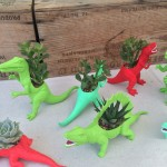 Fell in love with these dino-planters from Plaid Pigeon at one of the outdoor markets - they satisfy so many senses - color, nostalgia, fun, nature... https://www.etsy.com/people/PlaidPigeon