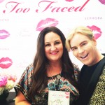 With Jerrod Blandino of TooFaced Cosmetics, my new BFF. Shown here with the lip print art we created at the Sephora Beverly Hills VIP Event