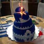 A beautiful cake made by our friend Jane for her husband Angelo's 50th birthday - best Greek wife every!