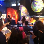 Checking out the stellar Visitors' Center at JPL with our #PBSKidsVIPs pals