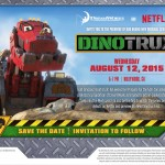 What an AWESOME invitation! We had a blast at the #Netflix #Dinotrux event! #StreamTeam