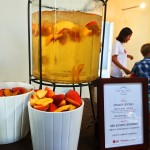 Doesn't his peach concoction look refreshing? It was! at the LG/Eva Longoria #Fam-to-table event