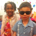 Miss #YurianMulan and fellow cool kid getting into character for their runway show