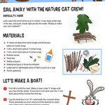 Make a boat and sail away with Nature Cat!