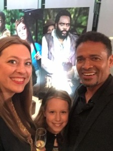 Elise and Lola Fyke with Mario van Peebles at the premiere of ROOTS